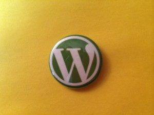 WordPress button from Seattle WordCamp 2014